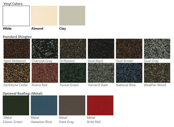 Pavilion - Vinyl Color Choices