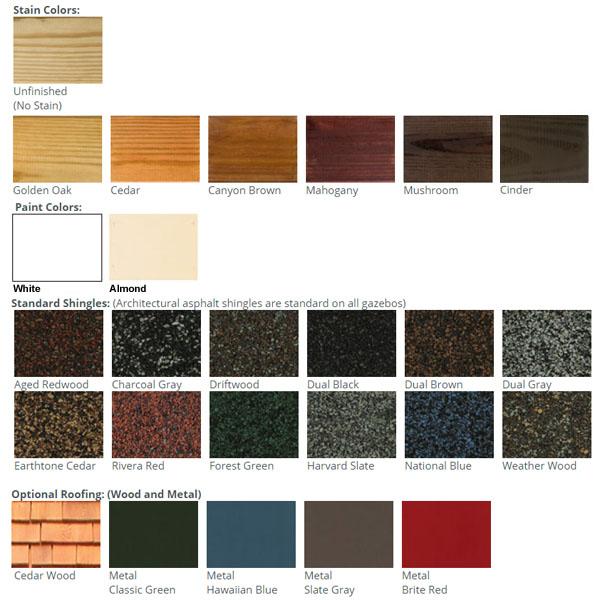 Gazebo - Wood Color Choices