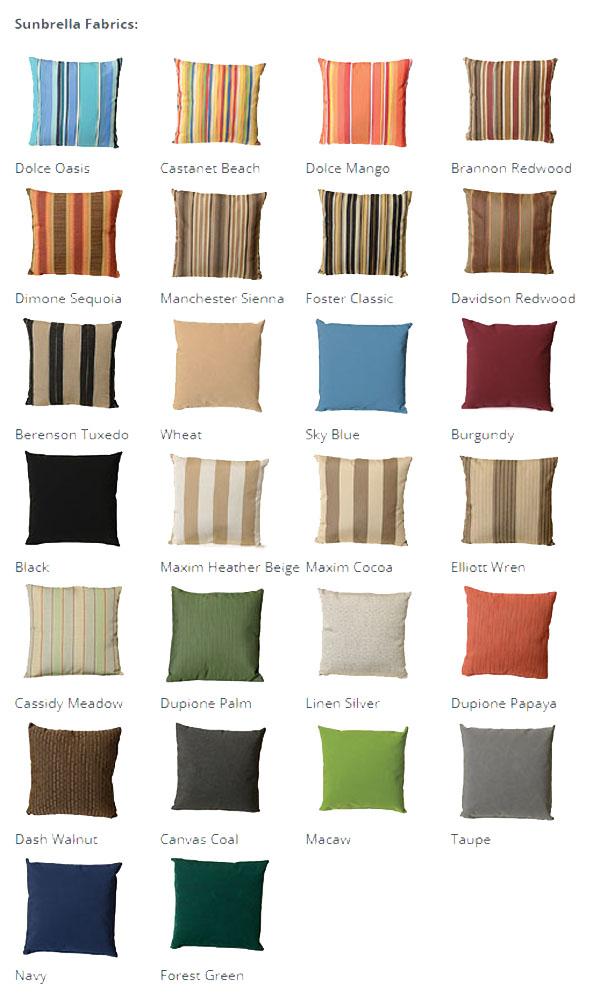 Finch Sunbrella Choices
