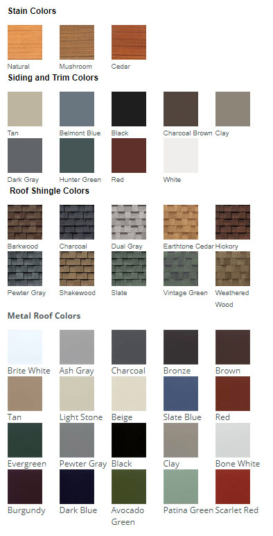 Horse Barn Color Choices
