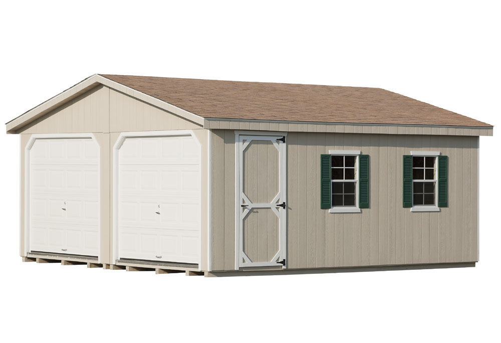 LP SmartSide Ranch A-Frame one-story two-car garages