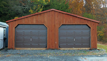 Board & Batten A-Frame One-Story Two-Car Garages