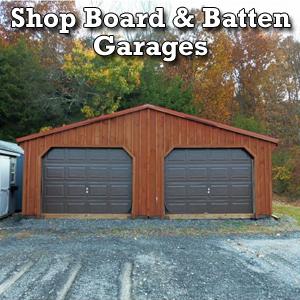 Shop Board & Batten Garages