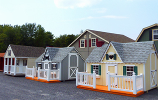 Playhouses at our Red Hook, NY location